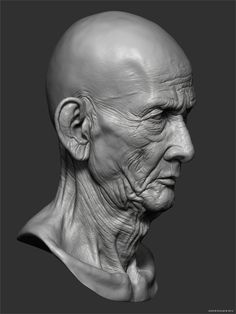 Cambodian Monk Head Study by Andor Kollar Facial Anatomy, Head Anatomy, Human Anatomy Drawing, Anatomy Art, Digital Sculpting, Body Sculpting, Zbrush Character, Drawing Heads, Sculpture Head