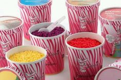 Large containers of sprinkles.. make your own candles!