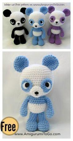 Adorable Panda Bear Amigurumi FREE Crochet Pattern