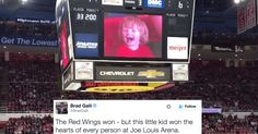 Arena of hockey fans lose their minds over adorable kid on the JumboTron and so will you.