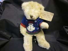 """RUSS BIRCHWOOD BEARS FROM THE PAST FULLY JOINTED PLUSH SNOWMAN SWEATER 10"""" NWT currently at $1.04 11-04-13"""