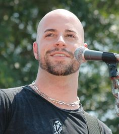 Picture of Chris Daughtry. Bald Men With Beards, Bald With Beard, Beard Fade, Sexy Beard, Famous Bald Men, Shaved Head With Beard, Bald Men Style, Chris Daughtry, Male Pattern Baldness