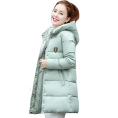 2016 New Korean Winter Women Coat Elegant Pure color Thick Warm Hooded Down Cotton Jacket High quality Large size Women Coat #>=#>=#>=#>=#> Click on the pin to check out discount price, color, size, shipping, etc. Save and like it!