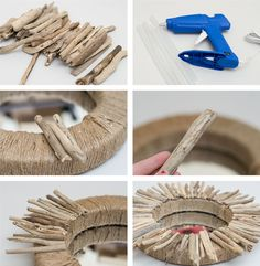 Easy DIY Mirror from Driftwood