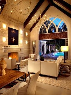 I would love to remodel a church and live in it! adore.