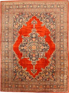 Beautiful Tabriz Persian rug. I could do a whole room around this rug.
