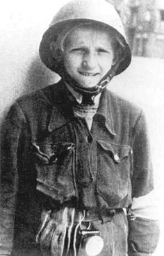 Young Polish insurgent fighter. Warsaw,  August 1944.