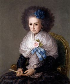 """The Widowed Marquesa de Villafranca"" by Francisco de Goya (1795)"
