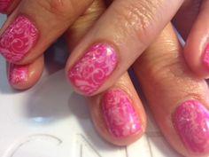 CND Shellac nail art