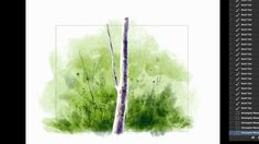 Digital Watercolor Demonstration with Kyle's Real Watercolors for Photoshop