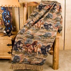 Running Horse Tapestry Throw Blanket.  Super Cool!