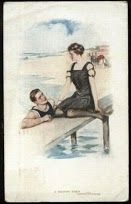 Victorian Postcards   Photo- all that fabric people had to wear..