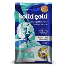 Solid Gold Barking at the Moon Holistic Dry Dog Food, Beef, Eggs and Peas, Grain and Gluten Free, Active Dogs of All Life Stages, All Sizes, 24lb Bag >>> Discover this special dog product, click the image : Dog food types