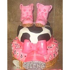 Cowgirl cake..gumpaste boots, bow, & belt