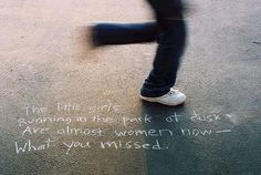 Ideas for getting kids involved with National Poetry Month: Write a favorite verse in sidewalk chalk