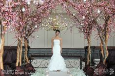 The bride, making her grand entrance under a luscious aisle of trees and cherry blossoms. Wedding Pics, Dream Wedding, Wedding Day, Wedding Dresses, Wedding Things, Cherry Blossom Theme, Cherry Blossoms, Pallet Wedding, Church Ceremony