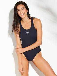 Speedo Endurance+ Medalist Swimsuit in Navy One Piece Swimwear, One Piece Swimsuit, Work Dresses For Women, Clothes For Women, Racerback Swimsuit, Speedo Swimsuits, Swimming Costume, Beachwear, Swimming
