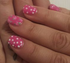 Kath kidston inspired nails hot pink by Opulence