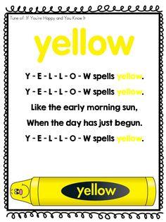Page 3 of 10 Color Songs Preschool, Preschool At Home, Preschool Learning, Toddler Preschool, Preschool Activities, Songs For Toddlers, Kids Songs, Teaching Colors, Tot School