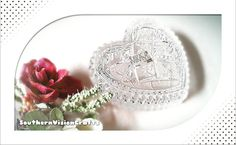 #JewelryBox #jewelrydish #trinketdishes #heart #crystal #etsy, I found this really awesome Etsy listing at https://www.etsy.com/listing/243489714/jewelry-box-heart-trinket-ring-dish