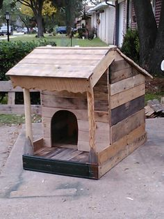 New dog house from scraps and pallets.