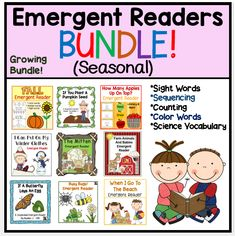 I am excited to announce that I've bundled all of my season related books into one budget friendly bundle!  Save close to 50% off the list price when you purchase this bundle which includes several of my top sellers. #fall #winter #spring #summer #seasonal #reading #literacy #centers #apples #pumpkins #snowmen #mitten #insects #butterflies #farm #beach #squirrels #math #printables #activities