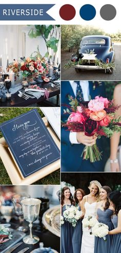 riverside dark slate blue and red fall wedding color ideas 2016 trends