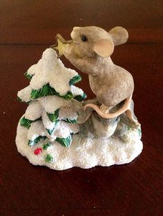 Charming Tails handcrafted holiday figurine by UnTesoro on Etsy, $10.00