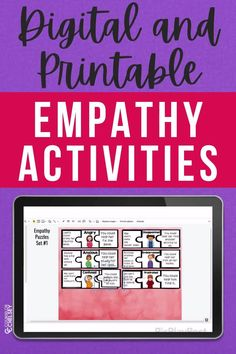 These empathy activities for kids will help students recognize and respond to the feelings of others. Students will look at scenarios and then decide how they can respond with empathy. These activities are great for individual, small group and classroom small group school counseling lessons. The printable and digital versions also make it a great resource for distance learning! Character Education Lessons, Social Skills Lessons, Social Skills Activities, Friendship Lessons, Teaching Empathy, Emotions Activities, School Social Work, Guidance Lessons, Social Emotional Learning