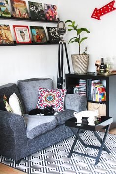 How to brighten up your room with a rug Cityscape Bliss // Creative home