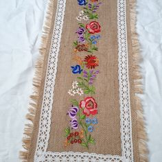 Floral Tie, Embroidery, Accessories, Needlepoint, Crewel Embroidery, Embroidery Stitches, Jewelry Accessories