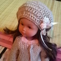 Hat and dress handmade by me for Chloe Cherie Corolle doll. Version with the scarf.
