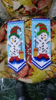 Beaded Banners, Beaded Crafts, Friendship Bracelets, Beads, Winter, Pattern, Christmas, Punto De Cruz, Beading