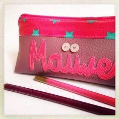 Exemple Trousse d'école ♥ Maïwenn ♥ | Mamzelle Adele, créatrice d'accessoires textiles | mamzelleadele