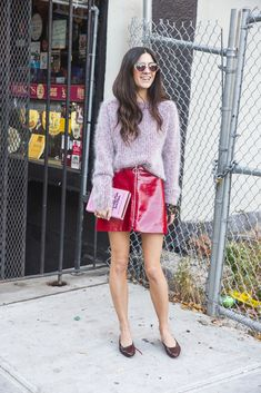 Miranda Levitt has such cool style and wears sunglasses even when it's cold.