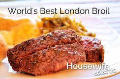 A perfect London Broil marinade. The blend of spices is just perfect and when cooked right, the meat is absolutely divine. Best London Broil Recipe, London Broil Recipes, Steak Recipes, Low Carb Recipes, Cooking Recipes, Grilling Recipes, What's Cooking, Healthy Recipes, Basic Cooking