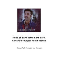 Ranbir Kapoor Deepika Padukone, Shraddha Kapoor, Priyanka Chopra, Crazy Quotes, Life Quotes, Allah Quotes, Hindi Quotes, Bollywood Quotes, Douglas Booth