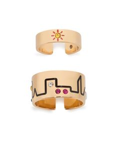 City Skyline Set of Ring and Midi Ring
