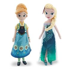 """New Hot Sell 50cm/20""""Anna And Elsa Toys Princess Doll Plush Toys Brinquedos Kids Dolls for Girls Limited Collector Free Shipping"""