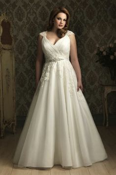 plus size wedding dress - like the bust and straps