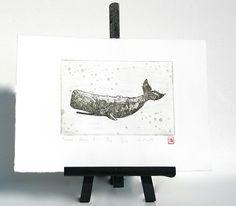 Wal Radierung Kupferstich Druck von fresh-and-silly