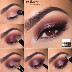 "another look from the ""Motives Mavens ELEMENT Palette"" ~ ""Dusty Rose"" Smokey Eye Tutorial by Mansoor Mansoor Maquillage in comments. Smokey Eyes Tutorial, Eye Tutorial, Makeup Tips, Eye Makeup, Hair Makeup, Makeup Ideas, Prom Makeup, Makeup Lipstick, Dusty Rose Dress"