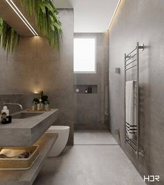 Badezimmer Minimal Interior Design Inspiration - How To Choo Bathroom Layout, Modern Bathroom Design, Bathroom Interior Design, Decor Interior Design, Small Bathroom, Bathroom Plants, Bathroom Sinks, Master Bathrooms, Modern Interior