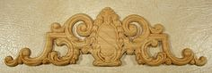 Applique  Onlay EMBOSSED APPLIQUE 740  4 3/8 X 13 3/4 by woodnshop