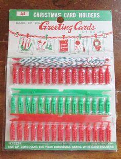 Vintage 1950's Christmas Card Holder 1950s Christmas, Christmas Past, Vintage Christmas Cards, Vintage Holiday, Christmas Card Holders, Vintage Mom, Christmas Flowers, Antique Christmas, 1970s Childhood