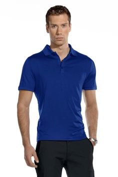 MPG Fore Solid tone, performance polo shirt.
