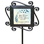 "GiftsForYouNow Wrought Iron Personalized Memorial Garden Stake, 28"" by 8.5"""