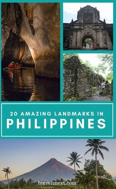 20 Incredible Landmarks in Philippines. Following 333 years of Spanish rule, the Spanish influences on their culture left a unique legacy, from ancient buildings to words used to describe certain areas to historic landmarks in the Philippines. #philippines #landmarks #asia #travel Historical Landmarks, Famous Landmarks, Fort Santiago, Travel Guides, Travel Tips, Time Travel, Asia Travel, Beach Travel, Luxury Travel