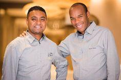 Marcel Ravin (à droite) et Lindley Lanappe, son bras droit, notre Chef de cuisine  restauration@hotel-simon.com
