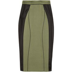 Jason Wu Paneled stretch-jersey pencil skirt